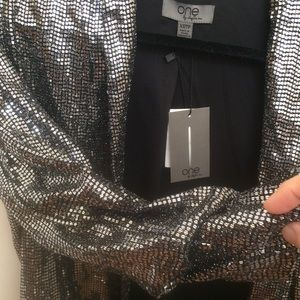 Jackets & Coats - Loose fit metallic sequins blazer